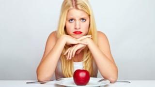 diéta, chudnutie, jablko, žena, chudnutie, štíhla línia