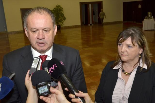Prezidenti, ktorých bolo vlani počuť najviac - Andrej Kiska a Iveta Lazorová v apríli 2015 v Poprade